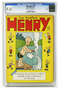 Golden Age (1938-1955):Humor, Four Color #155 Henry - File Copy (Dell, 1947) CGC VF/NM 9.0 Cream to off-white pages. Featuring Henry. Overstreet 2006 VF/N...