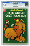 Silver Age (1956-1969):Humor, Four Color #750 The Great Cat Family File Copy (Dell, 1956) CGC VF/NM 9.0 Off-white pages. Disney movie comic. Pinocchio and...