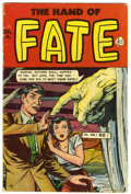 Golden Age (1938-1955):Horror, The Hand of Fate #8 (Ace, 1951) Condition: VG-. Surrealistic textstory. Overstreet 2006 VG 4.0 value = $82....