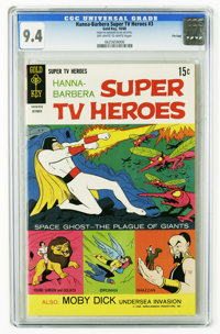 Hanna-Barbera Super TV Heroes #3 File Copy (Gold Key, 1968) CGC NM 9.4 Off-white to white pages. Space Ghost cover and a...