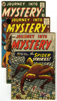Journey Into Mystery #73, 76, and 79 Group (Marvel, 1961-62). A reverse prototype of Spider-Man's origin is featured in...