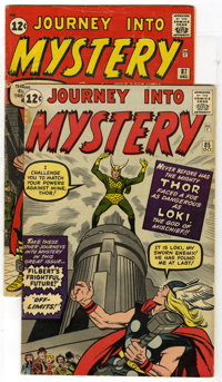 Journey Into Mystery #85 and 87 Group (Marvel, 1962) Condition: Average GD/VG. This lot of two Journey into Mystery comi...