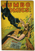 Golden Age (1938-1955):Adventure, Jumbo Comics #104 (Fiction House, 1947) Condition: FN+. Sky Girl by Matt Baker, with ZX-5 and Ghost Gallery by Jack Kamen. T...
