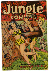 Jungle Comics #155 (Fiction House, 1952) Condition: FN+. Bondage cover. Overstreet 2006 FN 6.0 value = $51; VF 8.0 value...