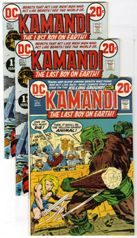 Kamandi, the Last Boy on Earth #1 and 5 Group (DC, 1972-73) Condition: Average VF. Lot of three Kamandi, the Last Boy on...