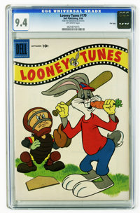 Looney Tunes and Merrie Melodies Comics #179 File Copy (Dell, 1956) CGC NM 9.4 Off-white pages. This is the highest CGC...