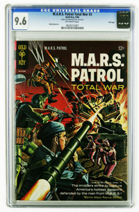 M.A.R.S. Patrol Total War #3 File Copy (Gold Key, 1966) CGC NM+ 9.6 Off-white pages. Painted cover. Wally Wood art. Over...