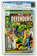 Marvel Feature #1 (Marvel, 1971) CGC NM- 9.2 Off-white to white pages. Origin and first appearance of the Defenders. Nea...