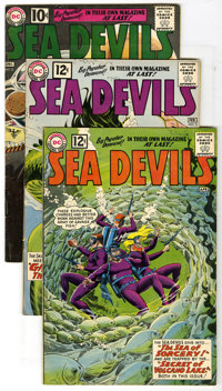 Sea Devils Group (DC, 1961-62) Condition: Average VG. lot of six Sea Devil comics includes #2 (last ten cent issue) and...