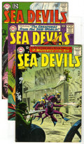 Silver Age (1956-1969):Superhero, Sea Devils Group (DC, 1963-64). This lot of four Sea Devil books contains #9 (VG), 10 (VF+), 16 (VG+ - Sheldon Moldoff a... (Total: 4 Comic Books)
