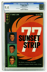 77 Sunset Strip #2 File Copy (Gold Key, 1963) CGC NM 9.4 Off-white to white pages. Russ Manning art. Overstreet 2006 NM-...