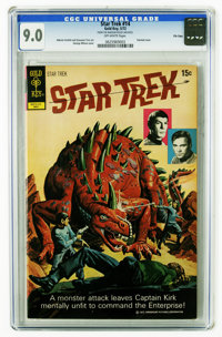 Star Trek #14 File Copy (Gold Key, 1972) CGC VF/NM 9.0 Off-white pages. Painted cover by George Wilson. Alberto Giolitti...