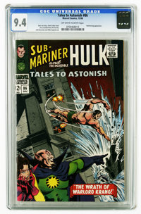 Tales to Astonish #86 (Marvel, 1966) CGC NM 9.4 Off-white pages. Featuring Sub-Mariner and the Hulk. Boomerang appearanc...