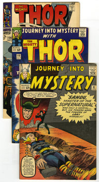 Thor Group (Marvel, 1963-68). This lot of four books from Marvel features Thor. Included in the group are Journey into M...