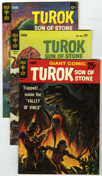 Turok Group (Gold Key, 1964-82) Condition: Average VF/NM. This large box lot of 153 Turok, Son of Stone comics includes...