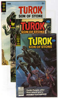 Turok Group (Gold Key, 1966-81) Condition: Average NM-. This box lot of 109 Turok, Son of Stone books contains many mult...