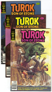 Turok Group (Gold Key, 1978-81) Condition: Average NM-. This box lot of 127 Turok, Son of Stone books contains numerous...
