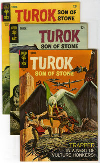 Turok Group (Gold Key, 1966) Condition: Average VF/NM. This box lot contains 89 copies of Turok, Son of Stone. There are...