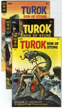 Turok Group (Gold Key, 1967-68) Condition: Average VF+. This lot of Turok, Son of Stone comics includes #55 (one copy)...