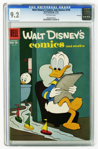 Walt Disney's Comics and Stories #218 File Copy (Dell, 1958) CGC NM- 9.2 Off-white pages. Carl Barks art. Overstreet 200...