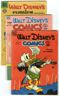 Walt Disney's Comics and Stories Group (Dell, 1945-62) Condition: Average VG. This box lot of Walt Disney's Comics and S...