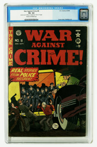 War Against Crime #8 (EC, 1949) CGC VG- 3.5 Cream to off-white pages. Johnny Craig cover art. Al Feldstein art. CGC note...