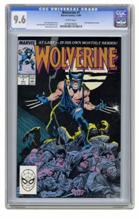 Wolverine #1 (Marvel, 1988) CGC NM+ 9.6 White pages. First Wolverine as Patch. John Buscema cover. Buscema and Al Willia...