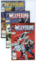 Modern Age (1980-Present):Superhero, Wolverine Group (Marvel, 1988-89) Condition: Average NM. This group contains issues #2, 3 (two copies), 4 (two copies), 7, 8... (Total: 13 Comic Books)