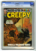"""Magazines:Horror, Creepy #95 (Warren, 1978) CGC NM/MT 9.8 Off-white to white pages. """"Apes"""" theme issue. Bernie Wrightson, John Severin, and Es..."""