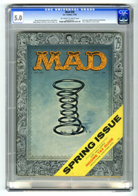 Mad #28 (EC, 1956) CGC VG/FN 5.0 Off-white to white pages. Last issue edited by Harvey Kurtzman, who also wrote stories...