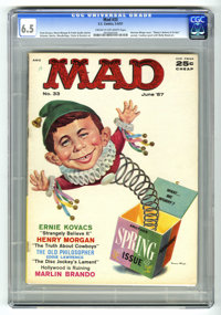 Mad #33 (EC, 1957) CGC FN+ 6.5 Cream to off-white pages. Cowboy spoof with Wally Wood art. Ernie Kovacs story. Noman Min...