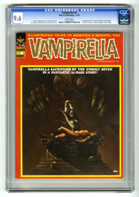 Vampirella #8 (Warren, 1970) CGC NM+ 9.6 White pages. Vampirella begins by Tom Sutton as serious strip. First appearance...