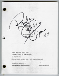 """""""They Live"""" Movie Scripts Signed by Roddy Piper Lot of 7. Whether you're a science fiction fan, a horror buff..."""
