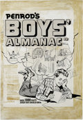 Original Comic Art:Covers, Al Avison - Penrod's Boys' Almanac Cover Original Art (Undated). Wecouldn't find this title listed in the Overstreet Comi...