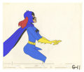 "Animation Art, ""Batgirl"" Animation Production Cel Original Art (undated). Thishand painted animation cel features cowled cutie, Batgirl, p..."