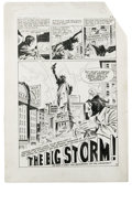 """Original Comic Art:Complete Story, Carl Burgos - Alarming Adventures #3 Complete 5-page Story """"The BigStorm"""" Original Art (Harvey,1963). Carl Burgos, creator ..."""