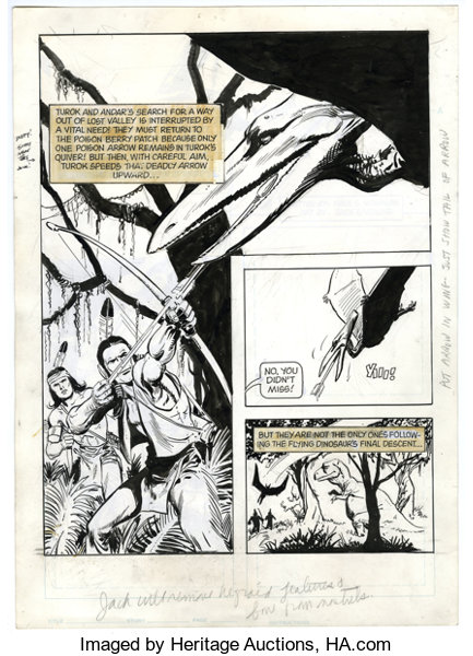 Jack Sparling Turok Son Of Stone Page Undated From An Lot 17421 Heritage Auctions
