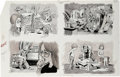 Original Comic Art:Sketches, George Woodbridge - Mad #190, 245, and 305 Illustration Original Art, Group of 10 (EC, 1977-91). This group includes the fou... (Total: 10 Items)