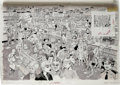 "Original Comic Art:Splash Pages, George Woodbridge - Mad #236 Original Art 2-Page Splash OriginalArt (EC, 1983). Part of an ongoing series, this ""How Many M..."
