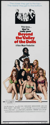 "Beyond the Valley of the Dolls (Twentieth Century Fox, 1970). Insert (14"" X 36""). Bad Girl. Directed by Russ M..."