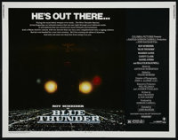 "Blue Thunder (Columbia, 1983). Half Sheet (22"" X 28""). Action. Directed by John Badham. Starring Roy Scheider..."