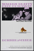 "Movie Posters:Crime, Bonnie and Clyde (Warner Brothers, 1967). One Sheet (27"" X 41"").Crime. Directed by Arthur Penn. Starring Warren Beatty, Fay..."