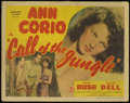 """Movie Posters:Adventure, Call of the Jungle (Monogram, 1944). Title Lobby Card (11"""" X 14"""").Crime Adventure. Directed by Phil Rosen. Starring Ann Cor..."""