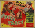 "Movie Posters:Crime, Dick Tracy (RKO, 1945). Half Sheet (22"" X 28""). Crime. Directed byWilliam A. Berke. Starring Morgan Conway, Anne Jeffreys, ..."