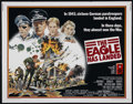 "Movie Posters:War, The Eagle Has Landed (Columbia, 1976). Half Sheet (22"" X 28""). War.Directed by John Sturges. Starring Michael Caine, Donald..."