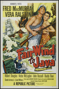 "Fair Wind to Java (Republic, 1953). One Sheet (27"" X 41""). Adventure. Directed by Joseph Kane. Starring Fred M..."