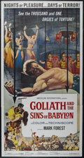 "Movie Posters:Adventure, Goliath and the Sins of Babylon (American International, 1964).Three Sheet (41"" X 81""). Action Adventure. Directed by Miche..."