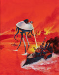 Pulp, Pulp-like, Digests, and Paperback Art, Jack Gaughan (American, 1930-1985). The Second War of theWorlds, paperback cover, 1976. Acrylic on board. 19.5 x 15.5i...
