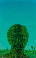 Pulp, Pulp-like, Digests, and Paperback Art, Dean Ellis (American, 1920-2009). The Green Brain, paperbackcover, 1966. Oil on board. 19.25 x 11.875 in. (sight). Sign...