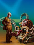 Pulp, Pulp-like, Digests, and Paperback Art, Barclay Shaw (American, b. 1949). The Remaking of Sigmund Freud,paperback cover, 1985. Acrylic on board. 19.5 x 15.5 in...